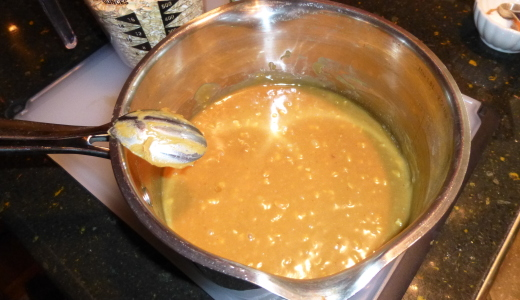 peanut butter & syrup mixture