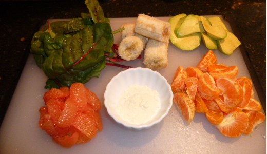 Orange Breakfast Green Smoothie Ingredients