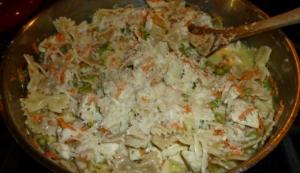 Bowtie Lemon Chicken Pasta in Skillet