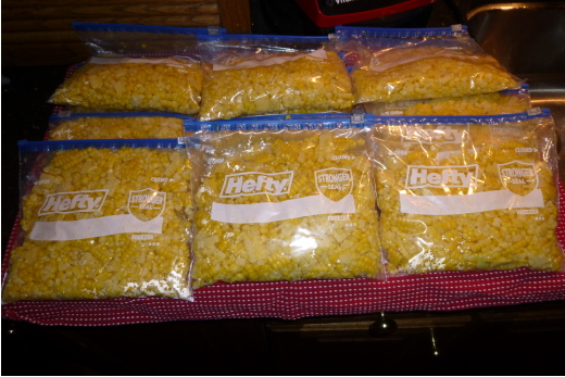 Sweet Corn in Freezer Bags