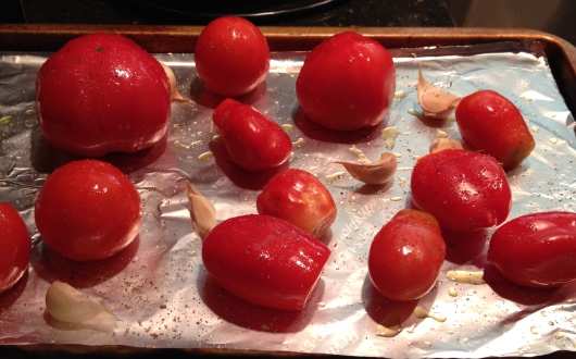 Fresh Tomatoes and Garlic